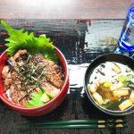 7月17日昼:ステーキ丼定食(息子)